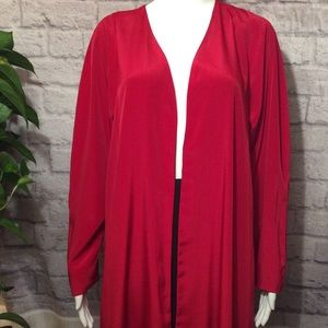 REVERSIBLE red and black open shrug (J2660)